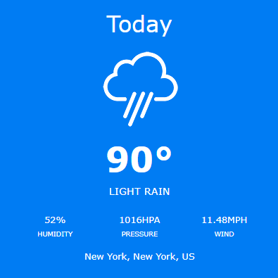 jQuery Weather Forecaster - 3